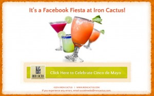 Exclusively for Iron Cactus Facebook Fans. Click Now for $10 Off. [Facebook Desktop version only]