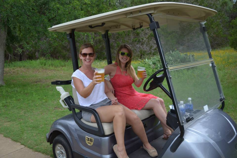 Cart girl with beer