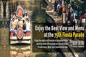 75th Fiesta River Parade Iron Cactus San Antonio River